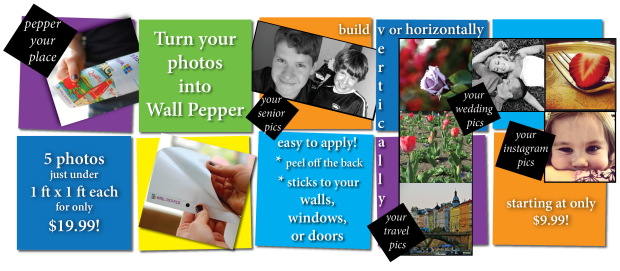 Turn your photos into Wall Pepper